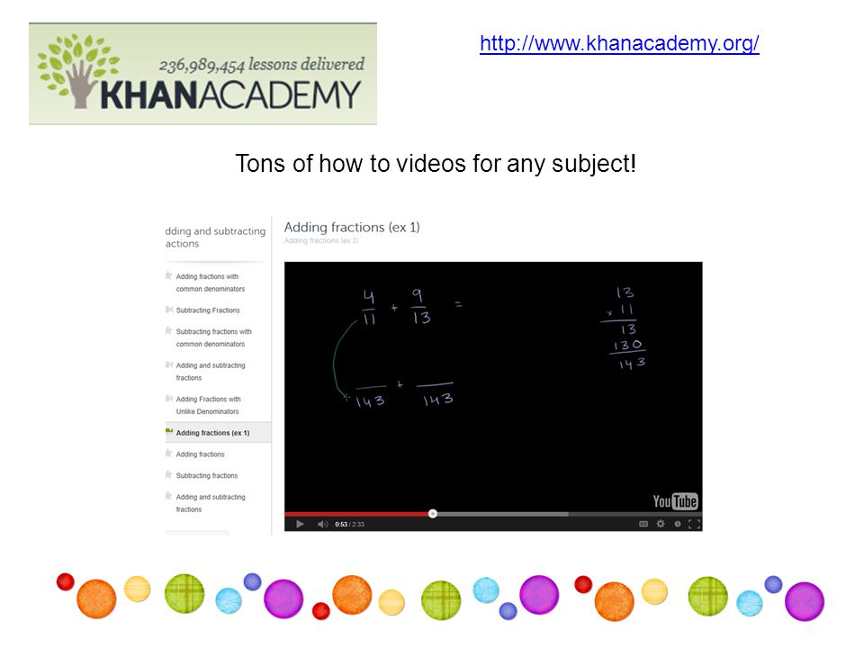 Tons of how to videos for any subject! http://www.khanacademy.org/