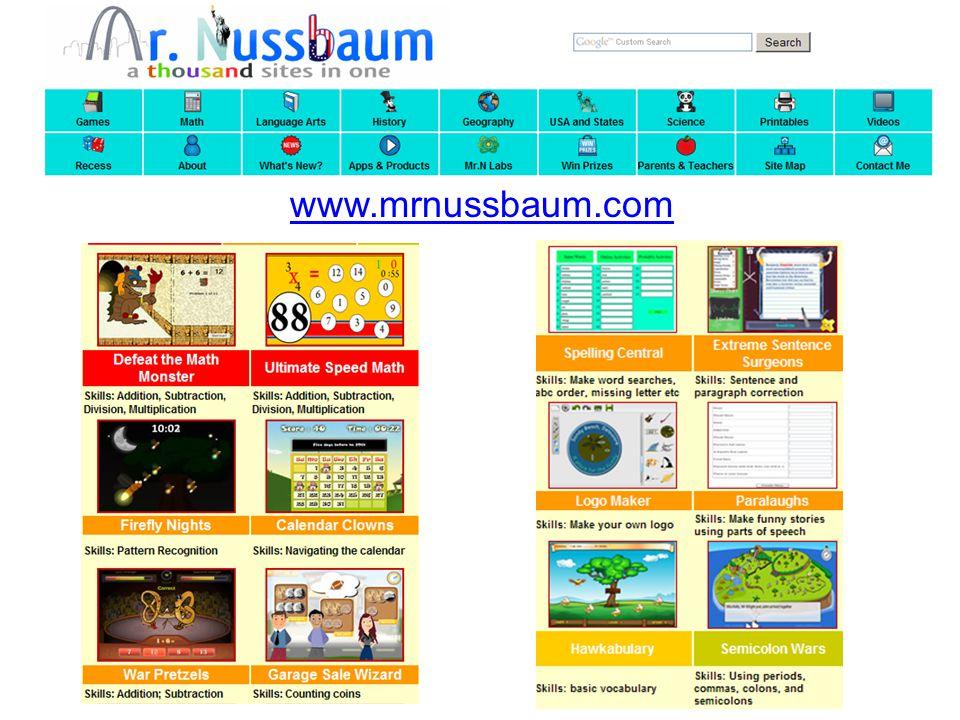 Mr. Nussbaum www.mrnussbaum.com