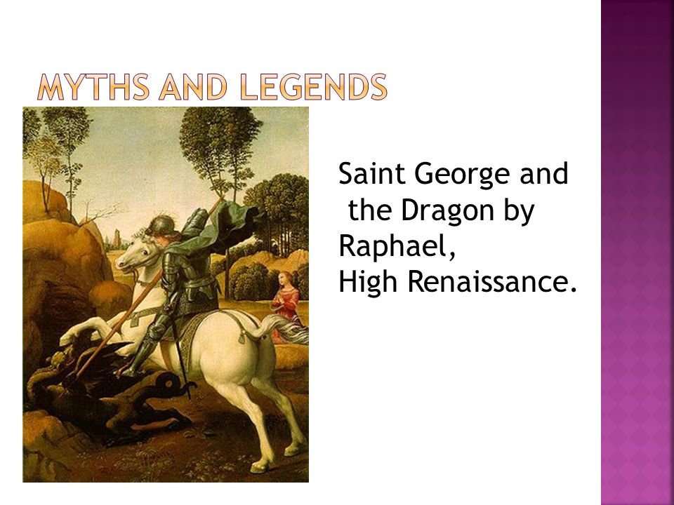 Saint George and the Dragon by Raphael, High Renaissance.