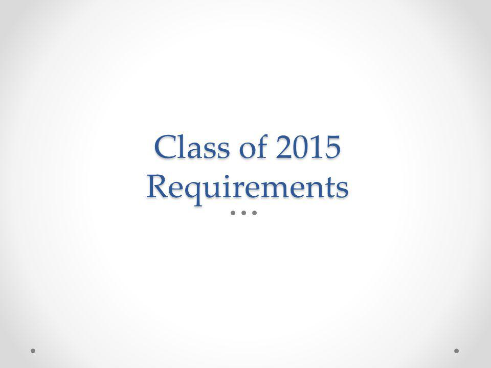 Class of 2015 Requirements