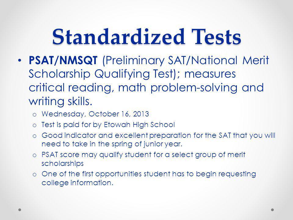 ACT/SAT SAT Test Dates o October 5, 2013 (EHS) o November 2, 2013 o December 7, 2013 (EHS) o January 25, 2014 (EHS) o March 8, 2014 (EHS) o May 3, 2014 o June 7, 2014 (EHS) ACT Test Dates o September 21, 2013 o October 26, 2013 (EHS) o December 14, 2013 o February 8, 2014 (EHS) o April 12, 2014 (EHS) o June 14, 2014 (EHS)