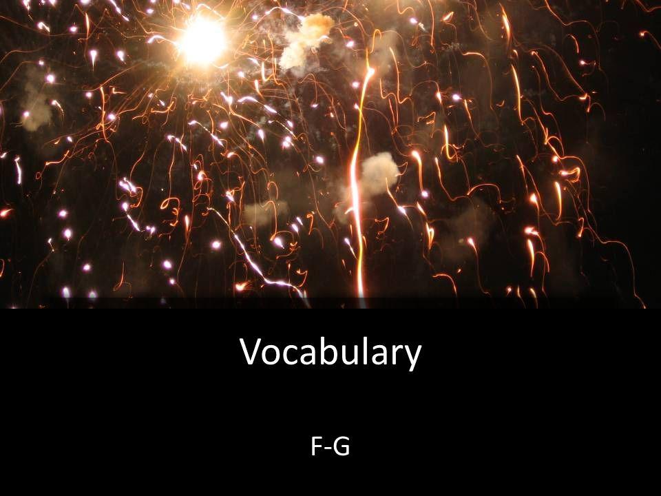 Vocabulary F-G