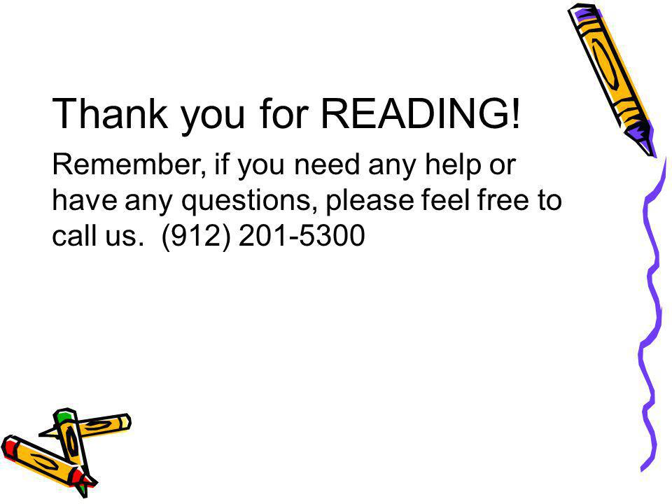 Thank you for READING.