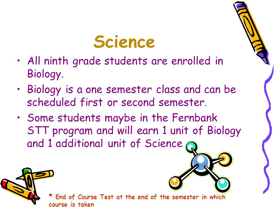 PE/Health All ninth grade students are scheduled for PE/HE 9.