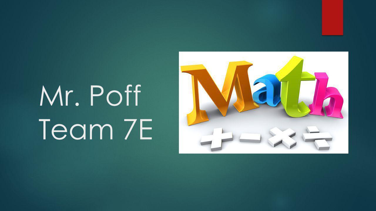 Mr. Poff Team 7E