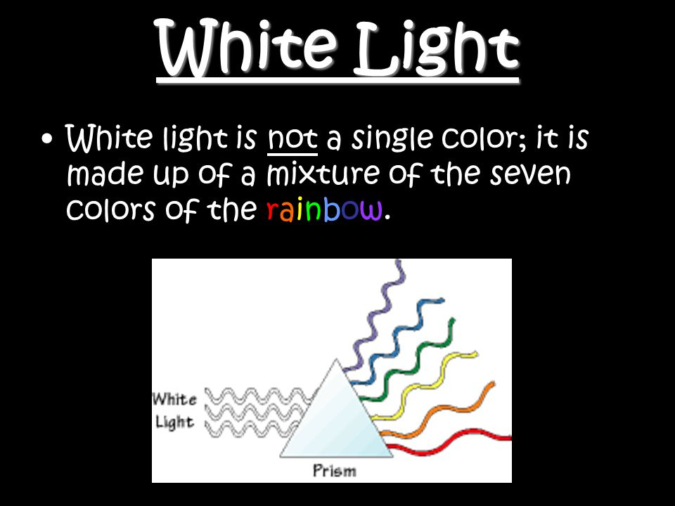 NSF North Mississippi GK-86 White Light White light is not a single color; it is made up of a mixture of the seven colors of the rainbow.