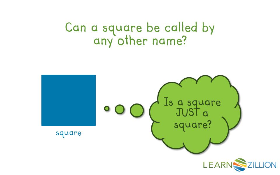 Can a square be called by any other name? square Is a square JUST a square?
