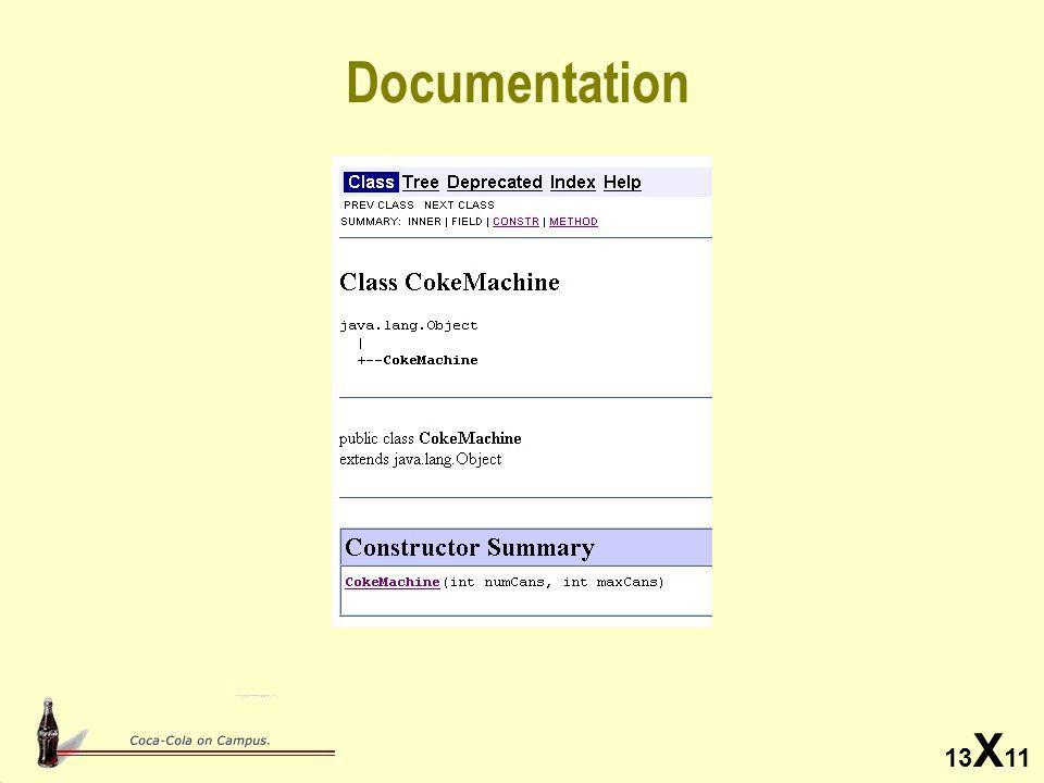 13 X 11 Documentation