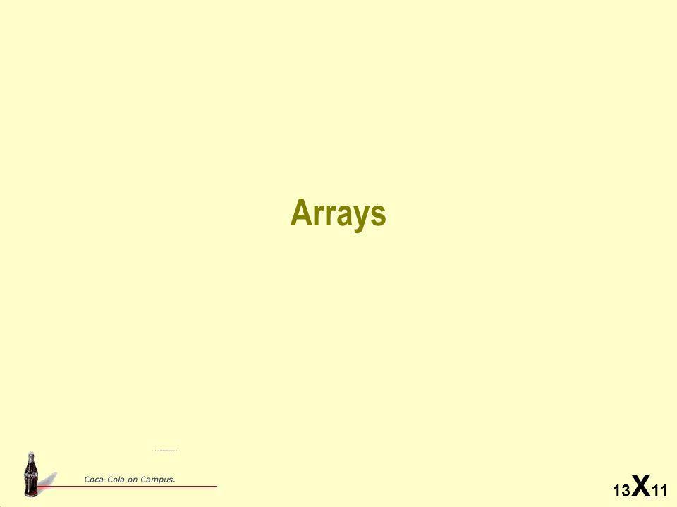13 X 11 Arrays