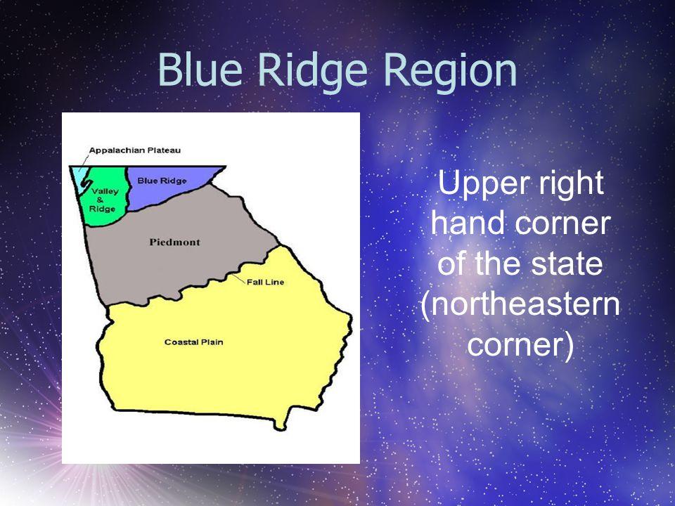 Upper right hand corner of the state (northeastern corner)