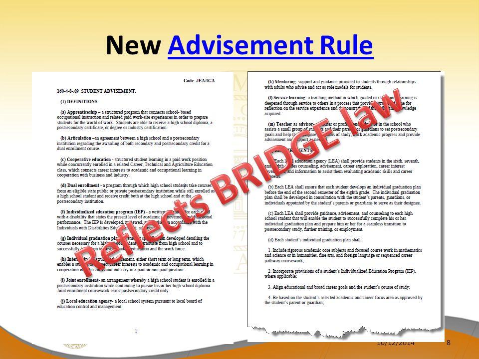 BRIDGE Checklist/ Career Information System 10/12/20149