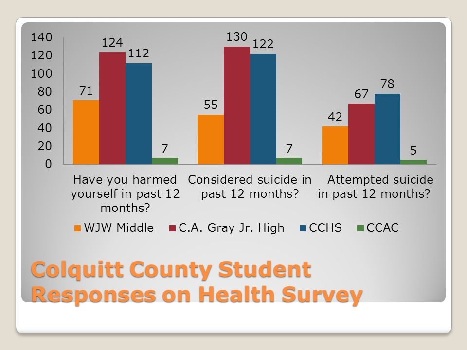 Colquitt County Student Responses on Health Survey