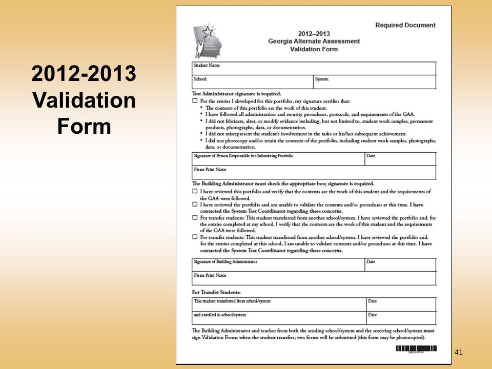 41 2012-2013 Validation Form