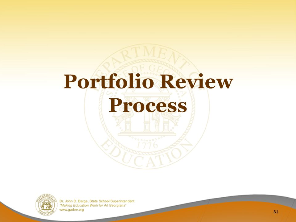 Portfolio Review Process 81