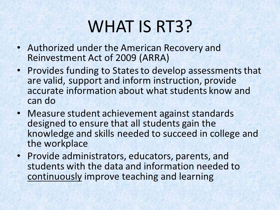 WHAT IS RT3.
