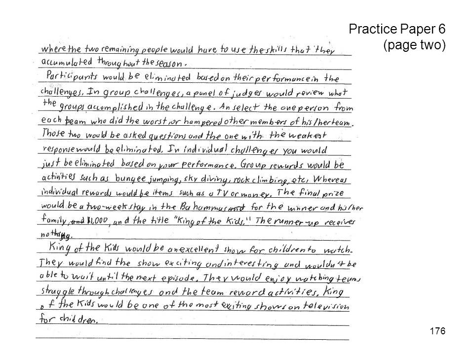176 Practice Paper 6 (page two)