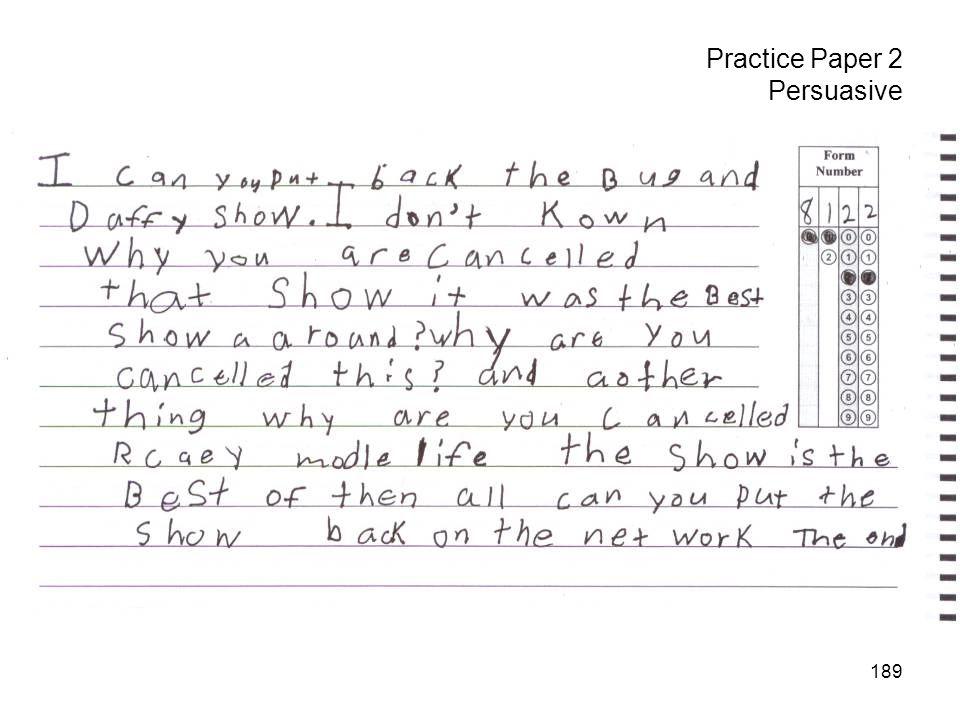 189 Practice Paper 2 Persuasive