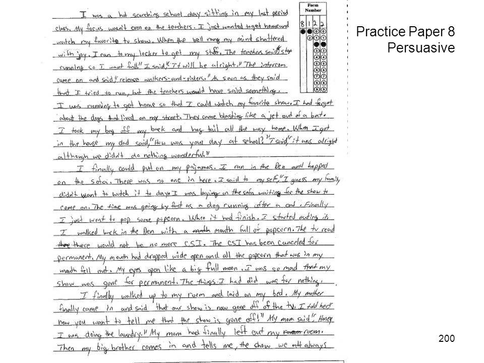 200 Practice Paper 8 Persuasive