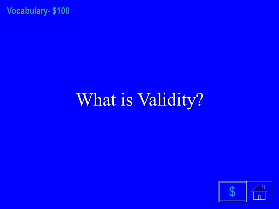 Perception- $500 What is the Absolute Threshold? $