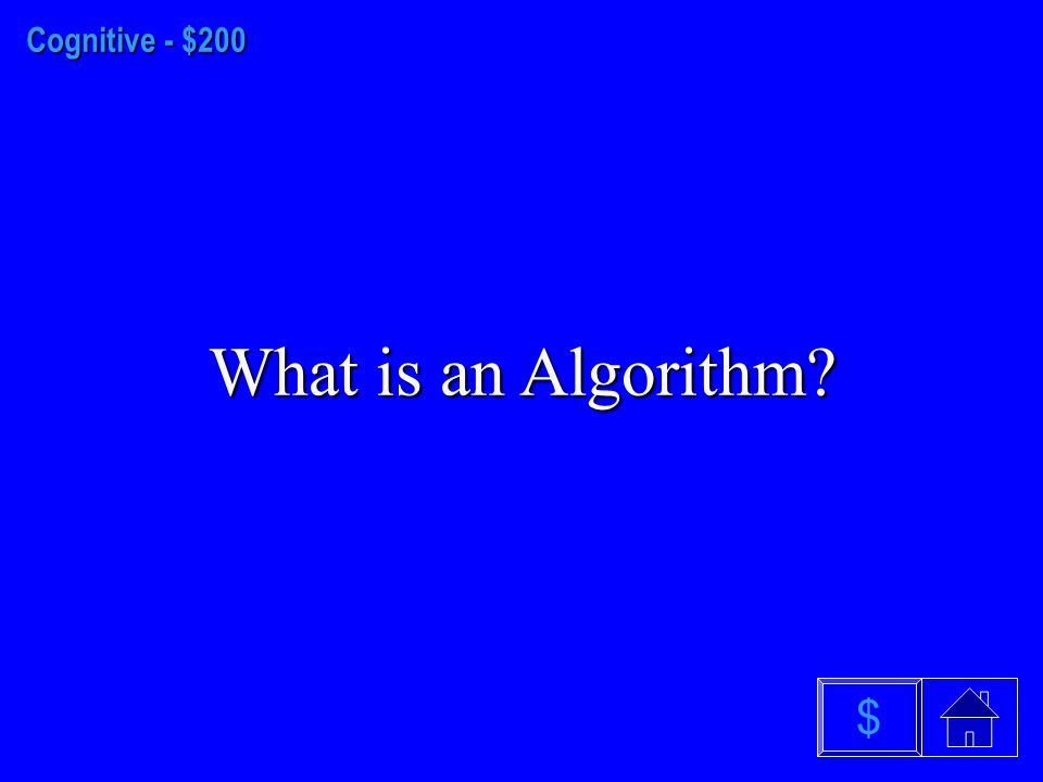 Cognitive - $100 What is Cognitive Dissonance? $