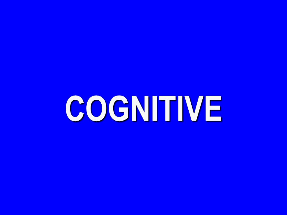 Cognitive - $400 What is an Analogy? $