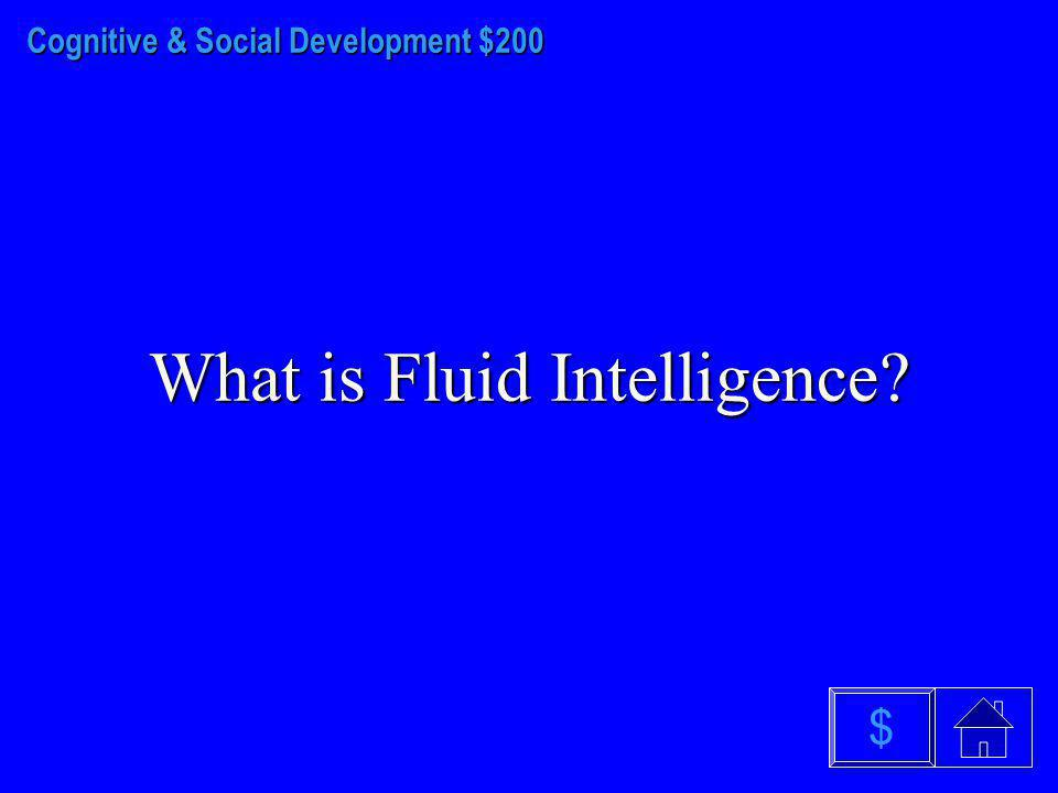 Cognitive & Social Development - $100 What is the Social Clock? $