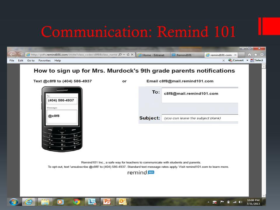 Communication: Remind 101