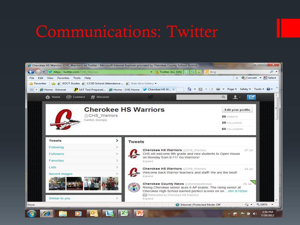 Communications: Twitter