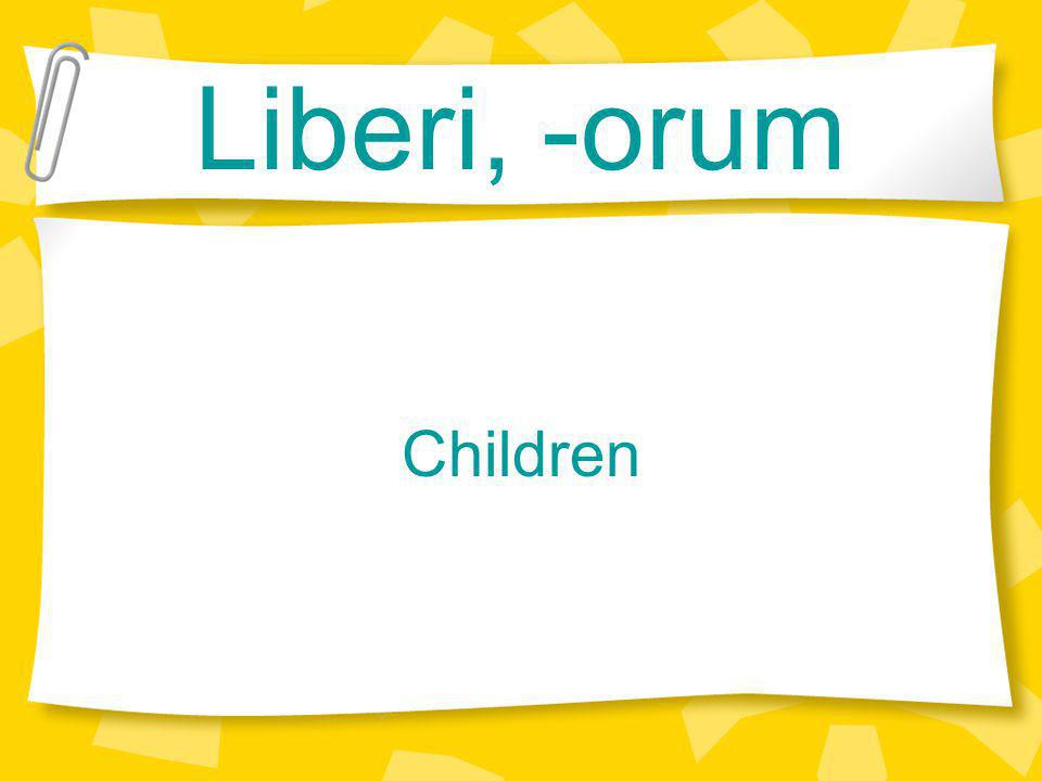 Liberi, -orum Children