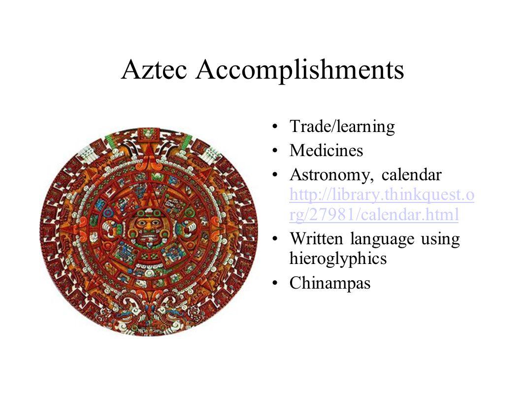 Aztec achievements - admissions guide