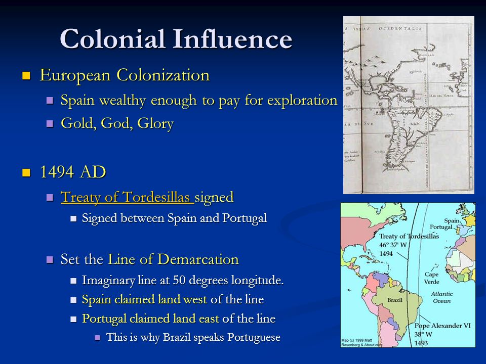 Impact of Colonization TODAY People and culture of Latin America are a blend of native and European customs.