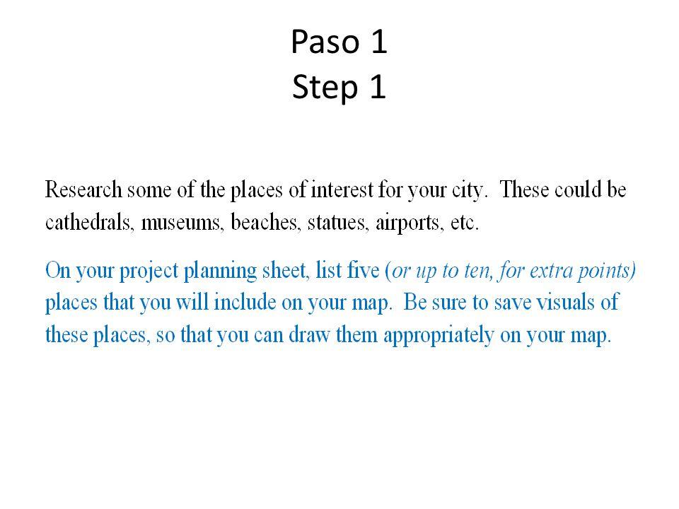 Paso 1 Step 1