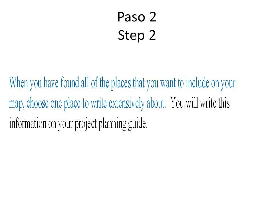 Paso 2 Step 2