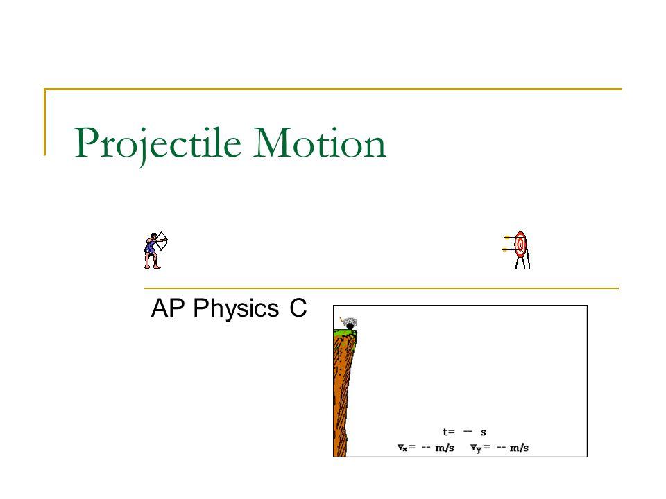 Projectile Motion AP Physics C