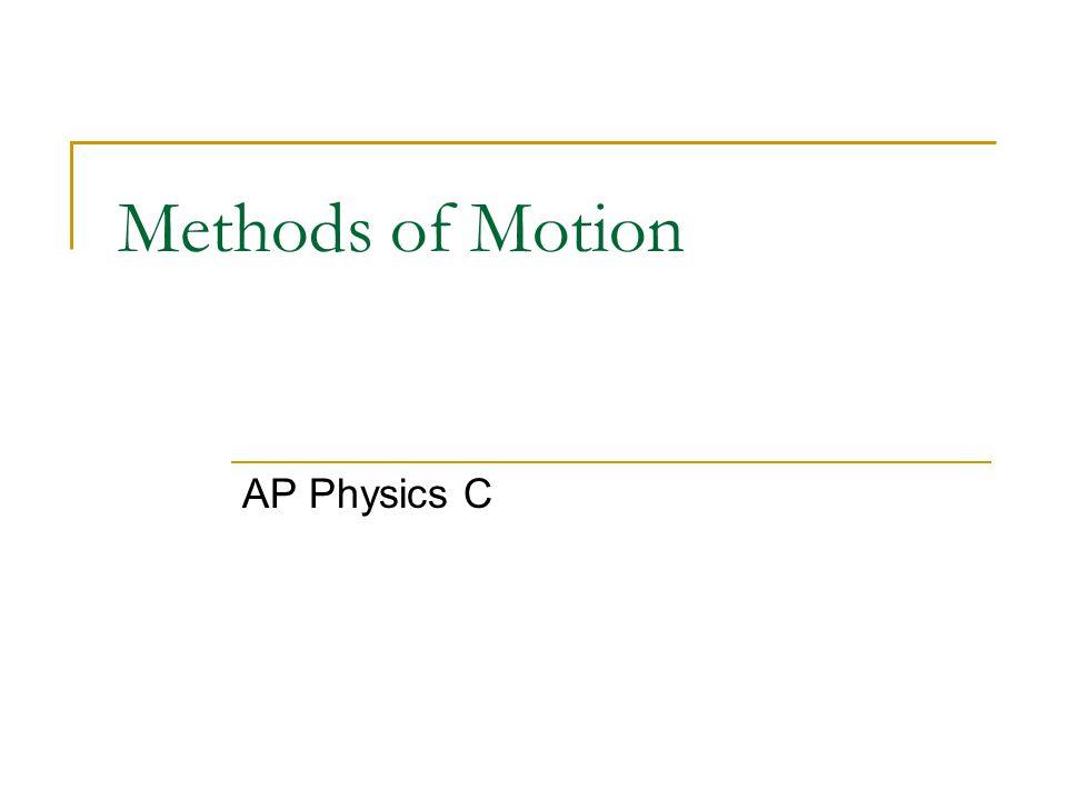 Methods of Motion AP Physics C