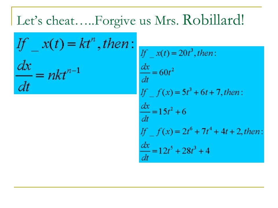 Let's cheat…..Forgive us Mrs. Robillard!