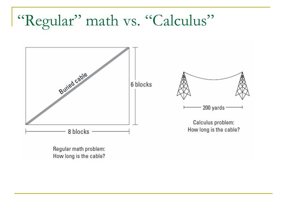 """Regular"" math vs. ""Calculus"""