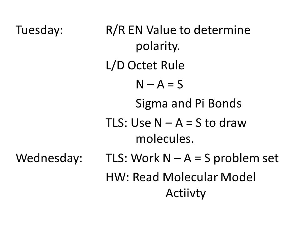 Tuesday:R/R EN Value to determine polarity.