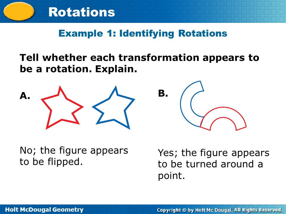 Holt McDougal Geometry Rotations Check It Out.