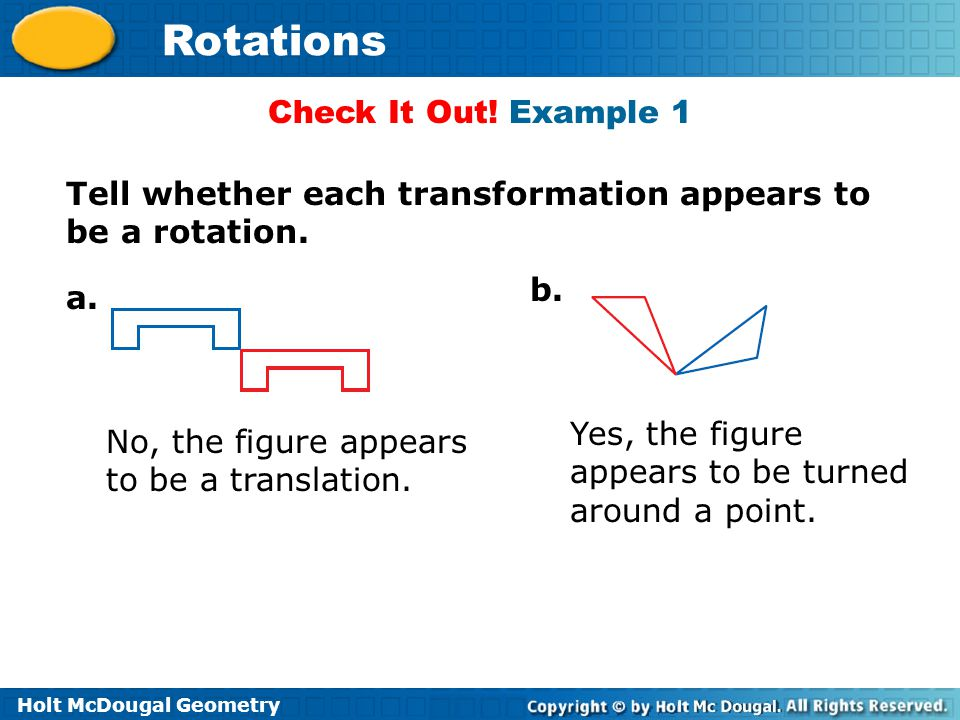 Holt McDougal Geometry Rotations