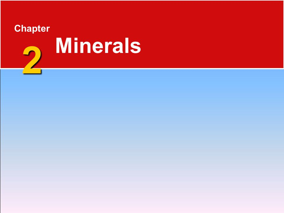 Mineral Groups  Can be classified based on their composition 2.2 Minerals 1.