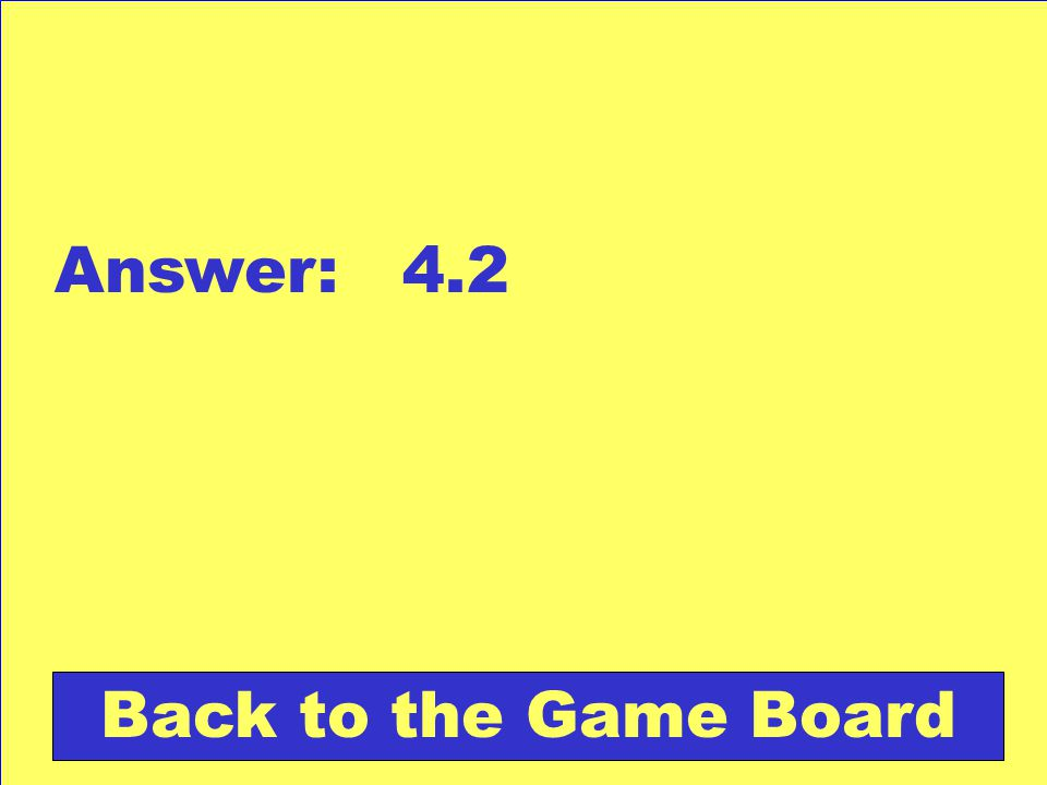 Answer: 4.2 Back to the Game Board