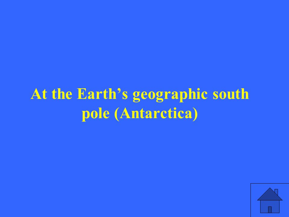 At the Earth's geographic south pole (Antarctica)