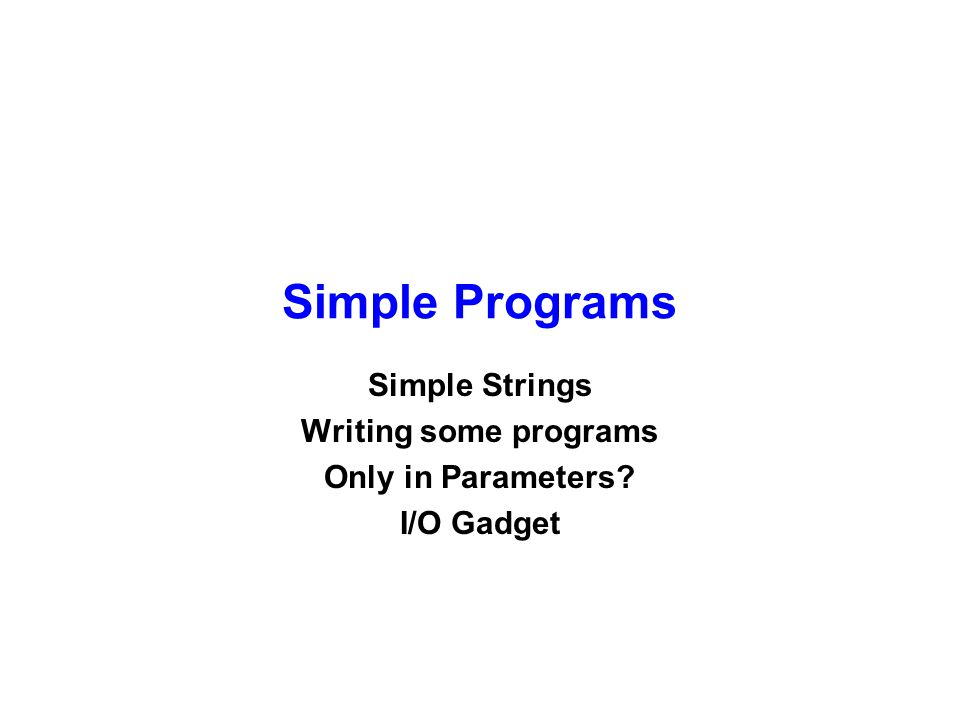 Tester class Stub { public static void main(String args[]) { String s; double d; int i; s = IOGadget.readLine( Enter a string ); d = IOGadget.readDouble( Enter a double ); i = IOGadget.readInt( Enter an int ); System.out.println ( Just read in string: + s + double: + d + int: + i); } // main } // Stub