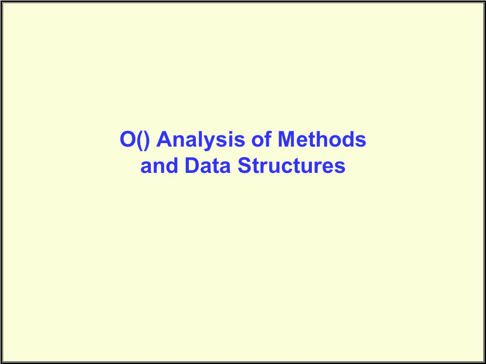 The Scenario We've talked about data structures and methods to act on these structures… –Linked lists, arrays, trees –Inserting, Deleting, Searching, Traversal, Sorting, etc.