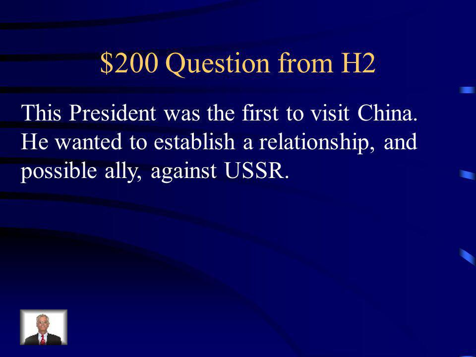 $100 Answer from H2 Watergate