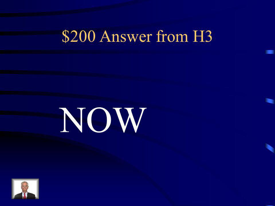 $200 Question from H3 Founded in 1966 to promote the equal rights opportunities for America's women.