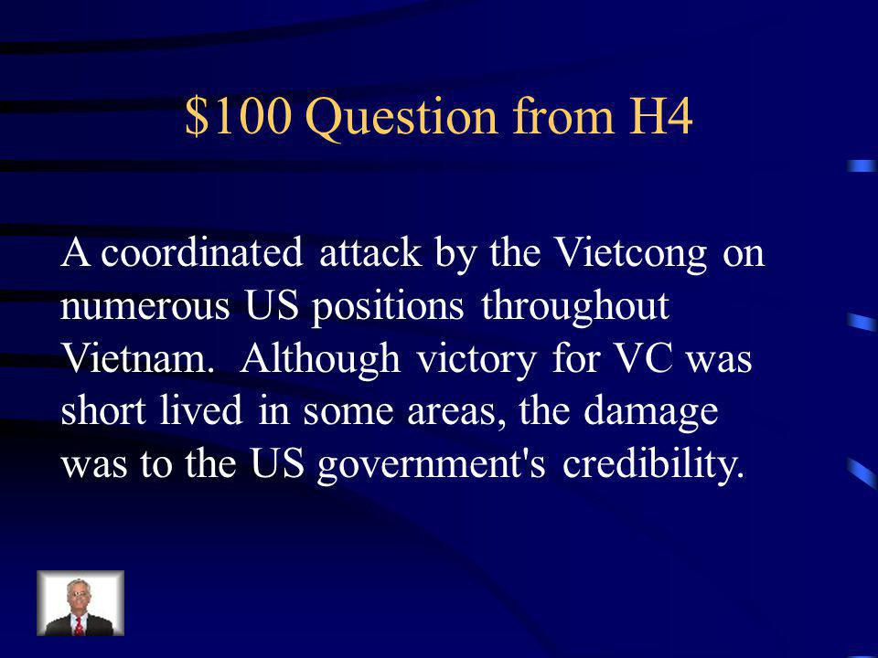 $500 Answer from H3 Robert Kennedy