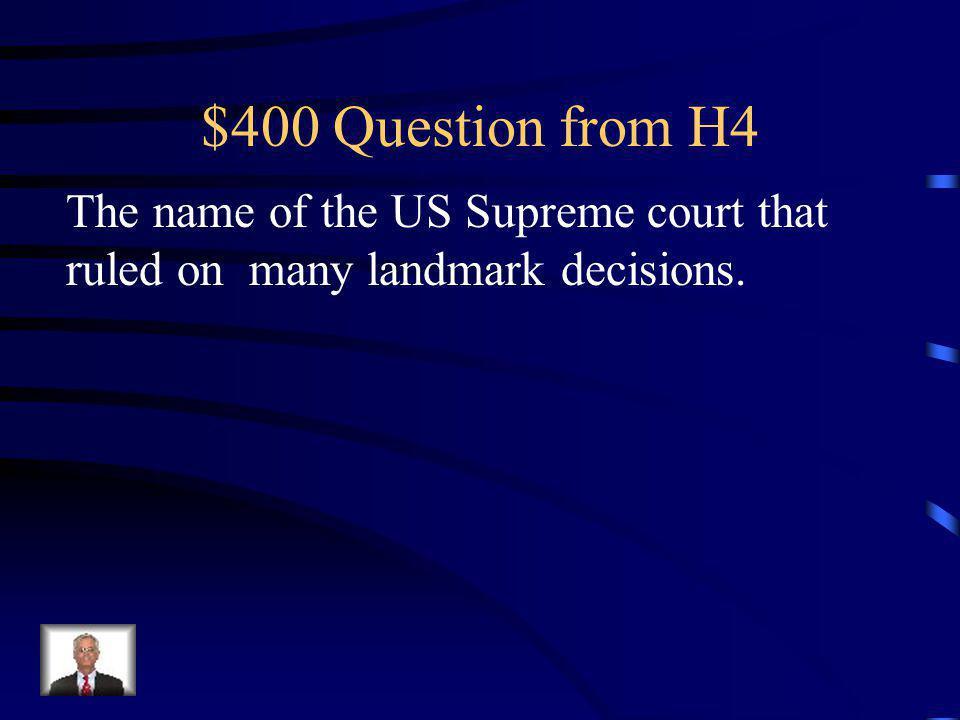$300 Answer from H4 Miranda v Arizona