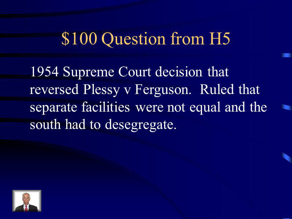 $500 Answer from H4 Civil Rights Act of 1964